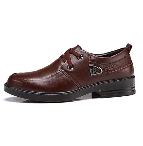 OEMPD Robe D'Affaires Décontracté en Cuir Chaussures Mâle Confortable Slipproof Chaussure de Jeunesse Tous les Jours brown wAfDW8