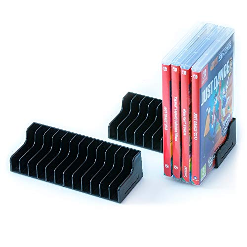 Switch Game Storage - Nintendo Switch 2x Game Storage Stand / Game Holder. Will store and secure 24 of your favourite Switch ()