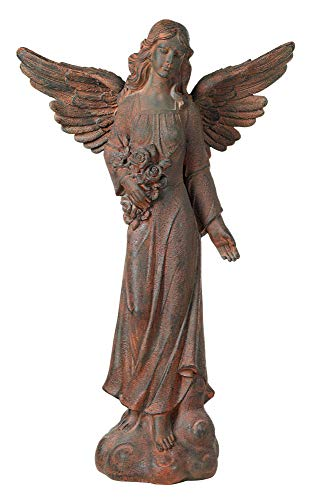 "Kensington Hill English Tudor Garden Angel 41 1/2"" High Statue"