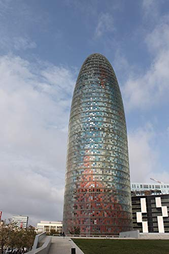 Home Comforts Peel-n-Stick Poster of Architecture Barcelona Jean Nouvel Diagonal Vivid Imagery Poster 24 x 16 Adhesive Sticker Poster - Jean Barcelona