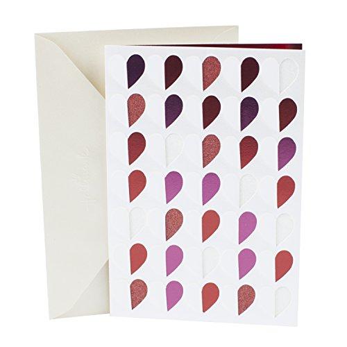Hallmark Signature Valentines Day Greeting Card Blank Hearts Pattern