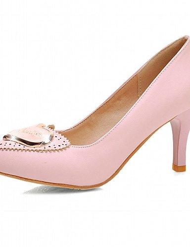 Casual y Tacón Tacones pink Stiletto de uk8 us10 Vestido mujer cn43 Beige eu42 5 GGX cn43 us10 Trabajo Negro Zapatos pink 5 eu42 Oficina 5 Rosa cn37 5 7 eu37 5 5 uk4 Semicuero Tacones pink uk8 us6 5 qtXw85PAW