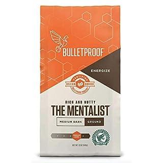 Bulletproof The Mentalist Ground Coffee, Medium Dark Roast, 12 Oz, Keto Friendly, Certified Clean Coffee, Rainforest Alliance, Ground