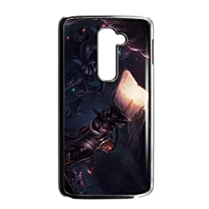Personality customization TPU Case with League of Legends Lucian LG G2 Cell Phone Case Black