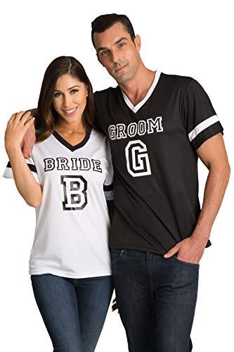 Zynotti Women's Bride White Football Jersey Shirt ()