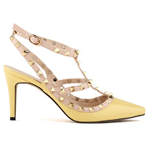 Ankle Strap Patent Leather Sandals - 7