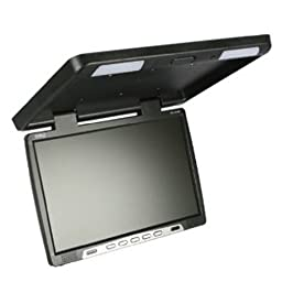 Absolute PFL181IRB 18-Inch TFT-LCD Flip-down Monitor with Built-in IR Transmitter, Black
