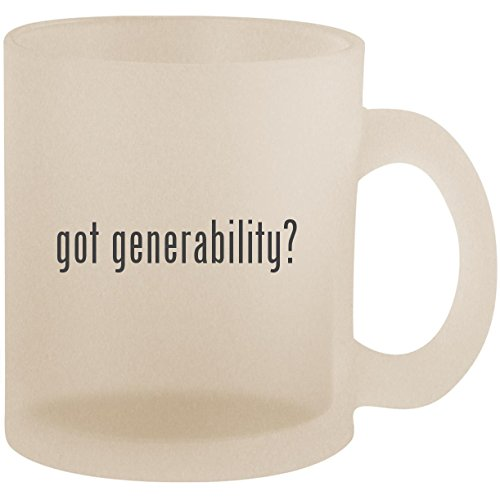 got generability? - Frosted 10oz Glass Coffee Cup Mug (Dvds Ipod Transfer My)
