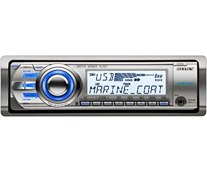 amazon com sony cdxm60ui marine cd receiver mp3 wma aac player with rh amazon com sony marine radio cdx-m60ui manual Sony Car Audio