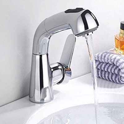 Ling@ All Copper Cuisine Basin Mixer Spring Mixer Kitchen Faucet Mixing Of Hot And Cold Water From The Drop-Down