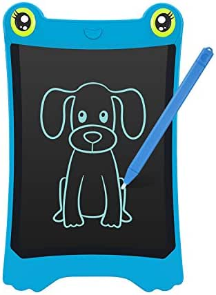 NEWYES 8.5 Inch LCD Writing Tablet Updated Frog Pad Children Electronic Doodle Board Jot Digital E-Writer Kids Scribble Toy with Lock Function Blue