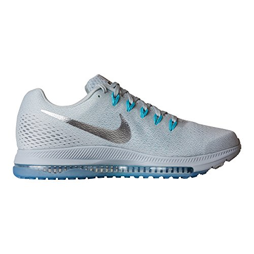 Nike Zoom All Out Low Size 7.5 Womens Running Pure Platinum/Chrome-Glacier Blue Shoes by NIKE (Image #3)