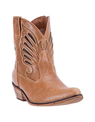 Dingo Western Boots Womens Flat Bush Tan Low Walking 6 M Tan DI 727