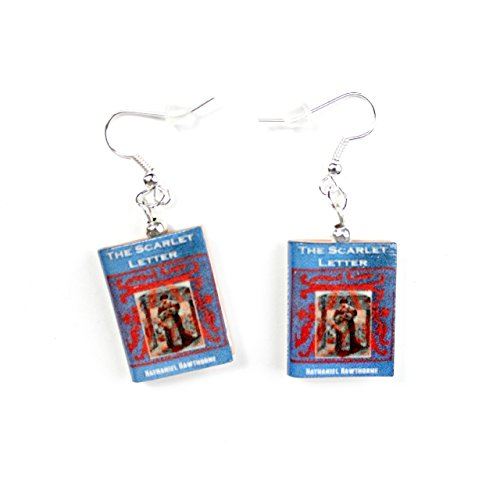 THE SCARLET LETTER Nathaniel Hawthorne Polymer Clay Mini Book Earrings by Book Beads Choose Your Earring Hardware