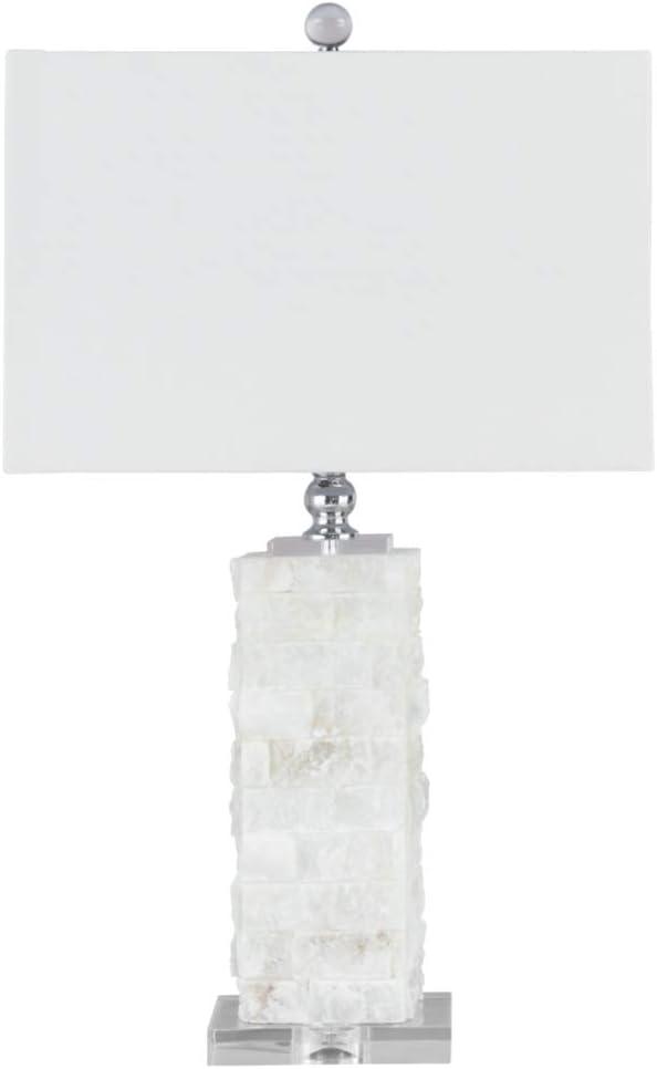 Signature Design By Ashley Malencia Marble Table Lamp Contemporary Chic White