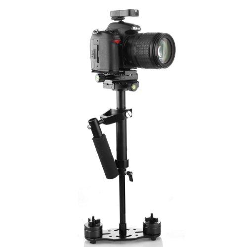 SUTEFOTO S40 40cm Mini Handheld Stabilizer Pro Version for Camera Video DV DSLR Nikon Canon, Sony, Panasonic-Weight Bearing Capability 0.2-1.5kg/0.44-3.31Ib