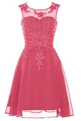 Damen Kleider Rosa Knielang Wassermelon Jugendweihe Brautjungfernkleider Abendkleider Braut Kurz Hell Cocktailkleider La mia tw6vqIv