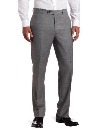 - Tommy Hilfiger Mens Flat Front Trim Fit 100% Wool Suit Separate Pant, Grey Solid, 40W x 30L