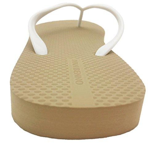 Coffee Slim Women's Flops Retro Beach Sandals Finoceans Flip Slipper Shoes Tong v16wWpqx