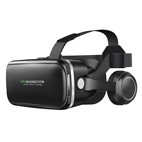 BENGOO VR Headset Goggles with Stereo Headphones, Virtual Reality Headset, 3D Glasses for 3D Games and Movies, Compatible all IOS / Android / Windows Smartphones within 4.7-6.0 inches