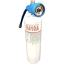 """R410a Refrigerant 28.2oz Disposable One Step Can With Gauge & Hose 1/4"""" Connection"""
