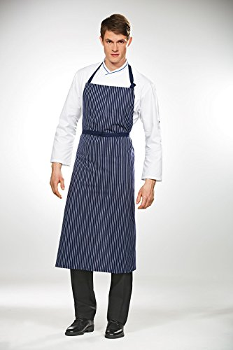 Travail Bib Chef Apron Blue / White Stripes
