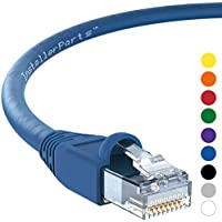 InstallerParts CAT6A Ethernet Cable 50 FT Blue - UTP Booted - Professional Series - 10 Gigabit/Sec Network/High Speed Internet Cable, 550MHZ