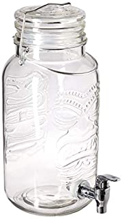 Circleware 67140 Tiki Aloha Splash Glass Beverage Drink Dispenser Mason Jar with Hermetic Locking Lid, 126 ounce, (B073HFPFBG) | Amazon price tracker / tracking, Amazon price history charts, Amazon price watches, Amazon price drop alerts