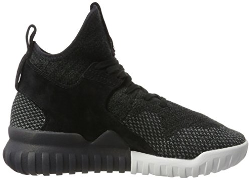 adidas Tubular X Primeknit, Sneakers Basses Mixte Adulte, Noir (Core Black/Dark Grey/Ch Solid Grey), 37 1/3 EU