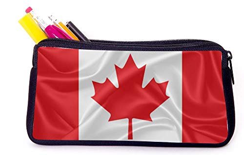 Canada Flag Pencil Case for School Supplies for Office Supplies, Gameboy DS, MP3, or Makeup Supplies (Best Makeup Boxes Canada)