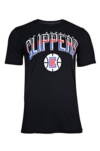 NBA Los Angeles Clippers Men's T-Shirt Arched Plexi Short Sleeve Tee Shirt, Medium, Black