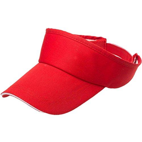 Elevin(TM)Women Men Summer Outdoor Sport Visor Sun Plain Hat Baseball Golf Tennis Cap (Red) ()