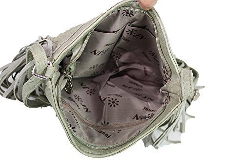 Party-Shoe Schultertasche mit Fransen Henkeltasche Handtasche 9141