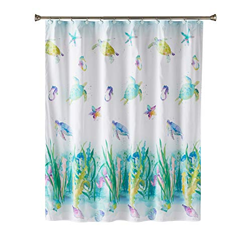 SKL Home Watercolor Ocean Fabric Shower Curtain