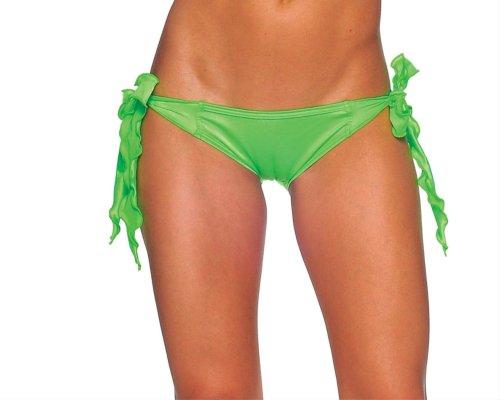 BODYZONE Women's Tie Side Scrunch Rio, Neon Green, One Size