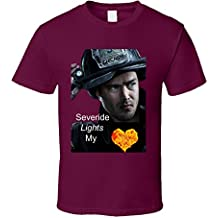 Trendy Tees Severide Lights My Fire T Shirt by Chicago Fire TV Show Novelty Gift Taylor Kinney Tee