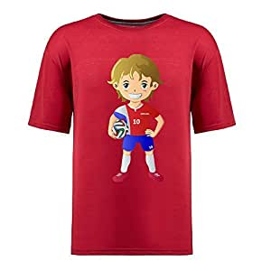 Custom Mens Cotton Short Sleeve Round Neck T-shirt,2014 Brazil FIFA World Cup UP71 red