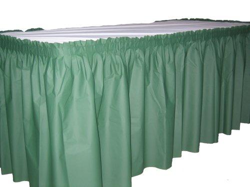 Kwik-Cover KS3096PK-GR PKG. Green Kwik-Skirt With 30'' X 96'' White Cover Fitted Table Cover With Skirt, (1 full case of 10)