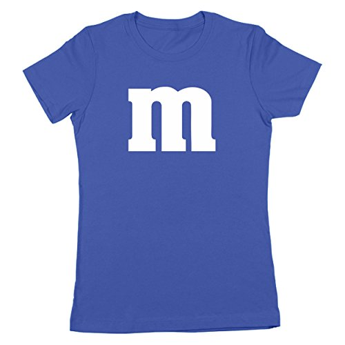 M Chocolate Candy Halloween Costume Outfit Funny Group Cool Party Womens Shirt Small (Womens Blue M&m Costumes)
