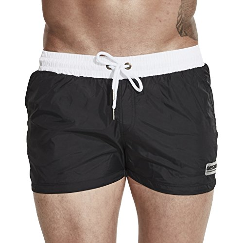 Funycell Men's Swim Trunks Beach Shorts with Pockets