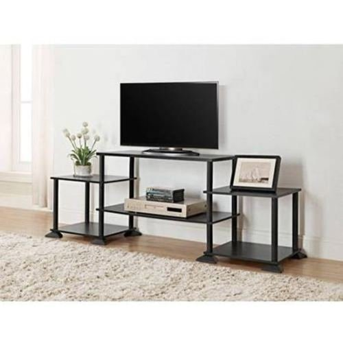 NEW TV Stand Entertainment Center Media Console Furniture Wood Storage Cabinet (Black) by (Center Media Storage)