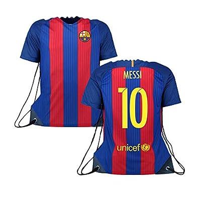 Forever Fanatics Barcelona Messi #10 Soccer Fan Drawstring Backpack