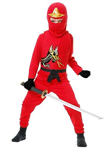 Red Ninja Avenger II Kids Costume -