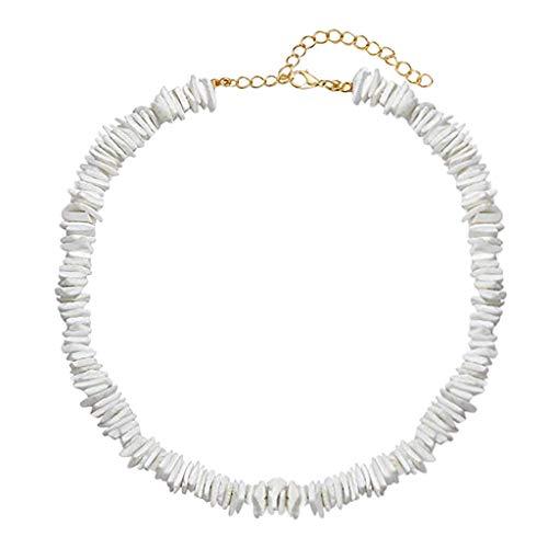 - LILICHIC Delicate Seashell Pearl Necklace Bracelet Set, Bohemian Jewelry Hawaiian Adjustable Cord Choker, Wedding Gift