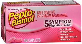 - Pepto-Bismol Caplets Original - 40 ct, Pack of 4