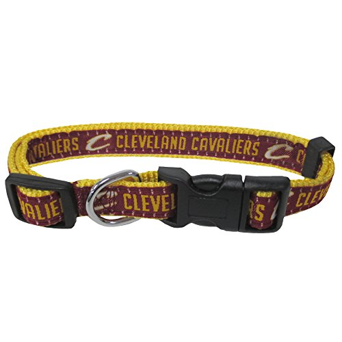 (NBA Cleveland Cavaliers Dog Collar, Size Medium. Best Pet Collar for All Sports Fans )
