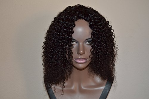 Handmade Wig - Brazilian Kinky Curly 8A Natural Color 12-12-12 by Chezlilika