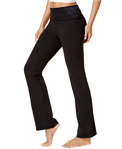 Gaiam Women's Nova Om Bootcut Yoga Pants (X-Small, Black)