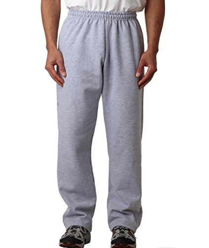 Gildan Mens 8 oz. Heavy Blend 50/50 Sweatpants G184 -SPORT GREY M (8 Oz Sweatpant)
