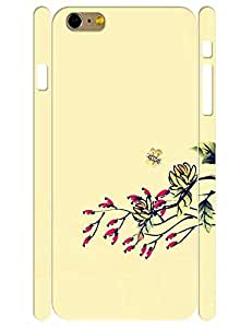 Elegant Custom Drawing Floral Eco TPU Phone Protective Back Cover for Iphone 6 Plus 5.5 Inch